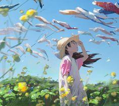 World of colors HD Wallpaper Arte Peculiar, Anime Flower, Anime Scenery Wallpaper, Anime Art Girl, Animes Wallpapers, Aesthetic Art, Cartoon Art, Art Reference, Character Art