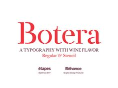 Botera: A free font with wine flavour http://ift.tt/2iLKqLM