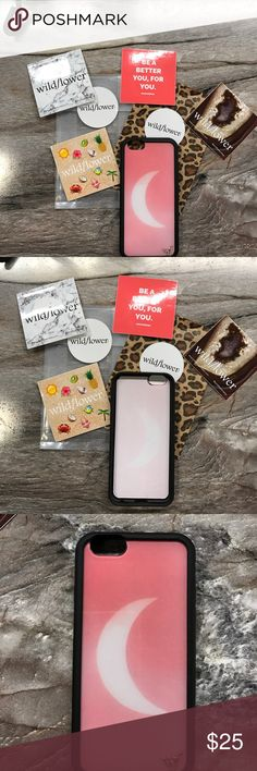 Wildflower iPhone 6/6s case Super chic case!!! In like new condition!! Super trendy on their website!! Half Moon design, No trades and you will get a sticker!! No need for this anymore, bought iPhone 7 plus Wildflower Accessories Phone Cases
