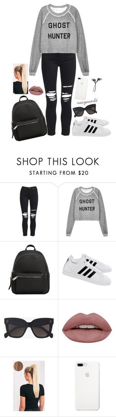 """""""Ghost hunter."""" by naaysworld ❤ liked on Polyvore featuring AMIRI, Wildfox, MANGO, adidas and CÉLINE"""