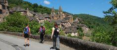 Conques sur la Route du Puy-en-Velay, chemin de Saint-Jacques de Compostelle