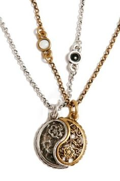 Lucky Brand Yin Yang Charm Necklace