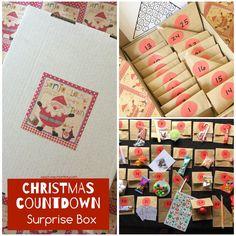 christmas countdown boxes