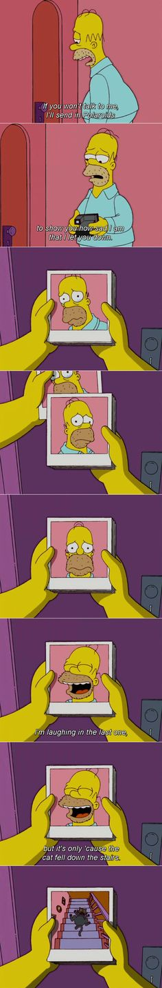 the simpsons, television, homer simpson jajajaa Simpsons Funny, Simpsons Quotes, The Simpsons, Simpsons Characters, Funny Jokes, Hilarious, Stupid Jokes, Funny Cartoons, Funny Humor