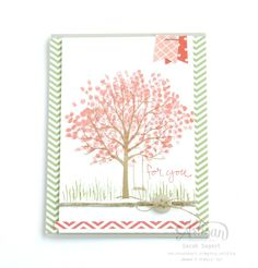 I love the Sheltering Tree stamp set! ~ Sarah Sagert
