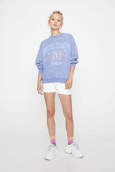 "Sweatshirt lavanda ""South Campus"" - PULL&BEAR"