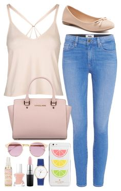 """Untitled #663"" by cupcakes077 ❤ liked on Polyvore featuring Topshop, Paige Denim, SO, Michael Kors, Sheriff&Cherry, Kate Spade, MAC Cosmetics and Essie"