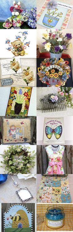 Birds, Bees, Buds, and Butterflies by Charlotte Colistro Brown on Etsy--Pinned+with+TreasuryPin.com