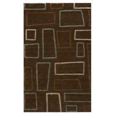 Sensations Geometric Brown Area Rug
