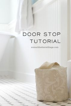 Make your own door stop from scrap fabric, beans and cotton batting.