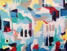 Kunstsamlingen | Artist: Smilla Daisy Dahl | Title: Cities Skylines | Height: 90cm,  Width: 120cm | Find it at kunstsamlingen.com #kunstsamlingen #kunst #artcollection #art #painting #maleri #galleri #gallery #onlinegallery #onlinegalleri #kunstner #artist #danishartists #smilladaisydahl