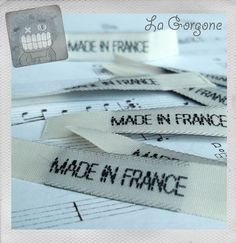 Etiquettes à coudre MADE IN FRANCE. Les fournitures rétro, vintage de La Gorgone. : Autre Couture par la-gorgone