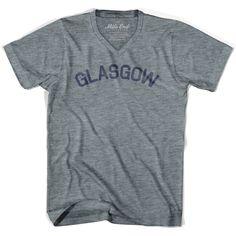 Glasgow City Vintage V-neck T-shirt