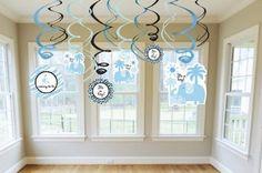 Amazon.com: Sweet Safari Boy Baby Shower Decorative Swirls: Toys & Games