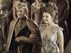 Game of Thrones (series 2011 - ) Starring: Jack Gleeson as Joffrey Baratheon and Natalie Dormer as Margaery Tyrell. (click thru for high res) Margaery Tyrell, Cersei Lannister, Daenerys Targaryen, Game Of Thrones Joffrey, Game Of Thrones Saison, Game Of Thrones Episodes, Watch Game Of Thrones, Game Thrones, Jack Gleeson