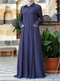 SHUKR's long dresses and abayas are the ultimate in Islamic fashion. Muslim Women Fashion, Islamic Fashion, Modest Dresses, Modest Outfits, Abaya Fashion, Fashion Outfits, Modele Hijab, Abaya Designs, Islamic Clothing