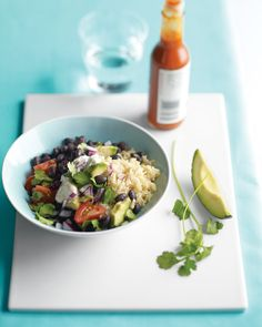 Jalapenos, onions, and garlic season this rice-and-beans dish that pairs well with fish and chicken.It also makes a delectable vegetarian dinner when served with cilantro, red onion, tomato, avocado, sour cream, cheese, and hot sauce.