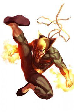 SixMoreVodka Ironfist Marvel Art by Marko Djurdjevic