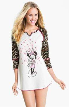 Betsey Johnson 'Minnie' Stretch Cotton Sleep Shirt available at #Nordstrom  soooo cute (sister would love)