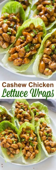 I'm a little obsessed with this easy dinner idea! Cashew Chicken Lettuce Wraps t… I'm a little obsessed with this easy dinner idea! Cashew Chicken Lettuce Wraps that are better-than-takeout and made in less than minutes! Food Dishes, Main Dishes, Dishes Recipes, Recipies, Talegate Food, Main Dish Salads, Food Menu, Dog Food, Baking Recipes