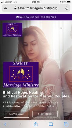 Resources to save your marriage. Marriage Bible Study, Broken Marriage, Saving Your Marriage, Ministry, Prayers, Healing, Couples, Books, Libros