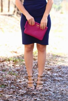 navy and magenta via