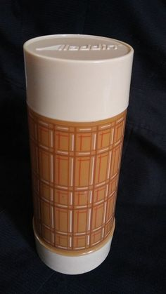 Vintage Aladdin Vacuum Thermos Quart Bottle Wide Mouth Plaid Camping Hiking #Aladdin #VacuumBottles #ThermosBottles