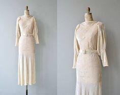 Isonoe wedding gown  vintage 1930s wedding dress  silk