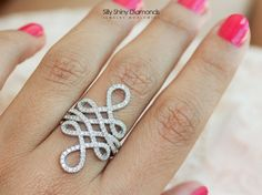 Hey, I found this really awesome Etsy listing at https://www.etsy.com/listing/193177630/085ct-infinity-lace-diamond-ring-silly