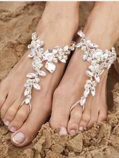 Love these!!! Perfect for the barefoot beach bride!