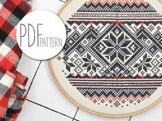 Kruissteek borduur patronen kerst borduren winter Noorwegen trui cross stitch sjabloon cross stitch patronen cross stitch instructies downloaden