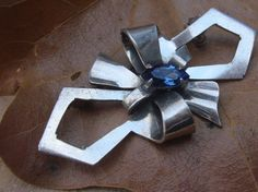 Vintage Nouveau Sterling Silver Bow with by CboatladysTreasures, $30.00