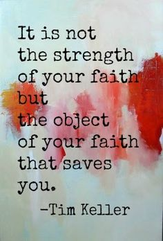 Faith is not a force. When I ask for you to hand me that bottle of water...I don't want the bottle...I am thirsty...I want the water. So, comparatively, faith is the bottle...Jesus is the water. Faith brings me to Jesus.