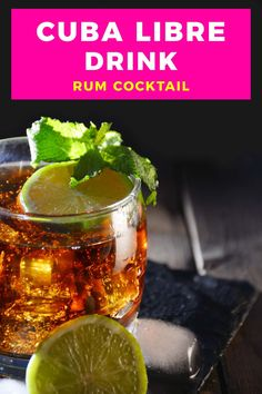 The Cuba Libre cocktail isn't just rum and Coke, it also comes with a fascinating history. You'd be surprised who named this drink and why this cocktail with rum, Coke and lime is still popular when you travel to Cuba. #cuba #travel #rum #cocktail #drink #cubalibre #rumandcoke #lime #classic #recipe Cuba Libre Cocktail, Cuba Libre Drink, Cuba Travel, Cocktail Drinks, Rum, Traveling By Yourself, Smoothies, Around The World Food, Visit Cuba