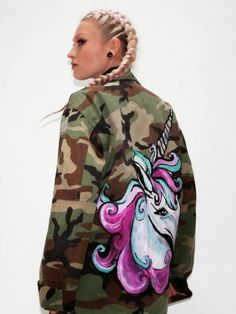 Hand Painted Army Jacket | Look What I'm Wearing