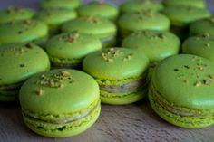 Pistachio Macarons (Italian Meringue) w/Buttercream Filling