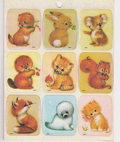 Vintage Drawing Board Sticker Sheet - Little Critters - Koala Fox Kitty New Cute Animal Illustration, Cute Animal Drawings, Cute Drawings, Dog Drawings, Critter Sitters, Alfabeto Animal, Vintage Drawing, Little Critter, My Childhood Memories