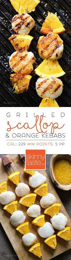 Grilled Scallop and Orange Kebabs with Honey-Ginger Glaze – 5 ingredients, ready in 15 minutes! by annabelle