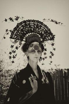 Model: Alexandra Samuel  Makeup: Lisette Santana  Headdress: Miss G Designs  Photographer: Gary Marciniak (GMM Photography)