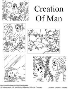Creation Of Man (Coloring Pages) Coloring pages are a great way to end a Sunday School lesson. They can serve as a great take home activity. Or sometimes you just need to fill in those last five mi...