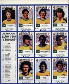 Football ©: Brazil Football Team in the 'World Cup Football, 1982 Brazil Football Team, Football Icon, Best Football Team, National Football Teams, World Football, Soccer World, Football Soccer, Good Soccer Players, Football Players