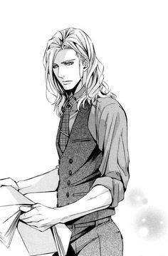 Reminds me of a modern, young Thranduil from The Hobbit movies. I'm going to leave this > word in case it's the title >: Random Manga Anime, Boys Anime, Hot Anime Boy, Manga Boy, Anime Love, Anime Art, Fantasy Characters, Anime Characters, Animation