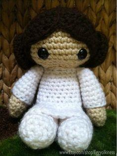 Crochet Princess Leia Star Wars Amigurumi. $30.00, via Etsy.