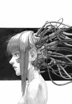 manga-and-stuff: Eden: Its an Endless World! Cyberpunk Anime, Cyberpunk Girl, Arte Cyberpunk, Cyberpunk Character, Cyberpunk 2077, Character Inspiration, Character Art, Cyberpunk Aesthetic, Arte Robot