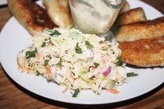 """"""" Wykwintna"""" surówka z kiszonej kapusty z majonezem Polish Recipes, Coleslaw, Potato Salad, Food And Drink, Chicken, Ethnic Recipes, Kitchen, Diet, Side Dishes"""