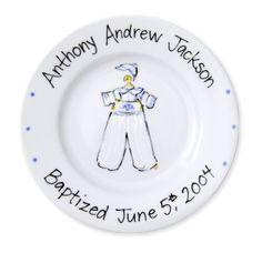 Birth Announcement Plates & Baptism Plates - Little Miss Arty Pants ...