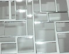 Silver Mirror Jumbled Mix from Mosaic Tile Mania makes a beautiful back splash for your kitchen or bathroom!