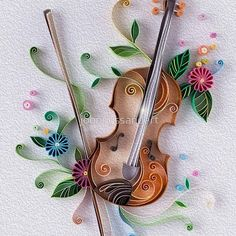 Quilling © Yulia Brodskaya (Searched by Châu Khang) Arte Quilling, Quilling Letters, Paper Quilling Cards, Quilling Work, Paper Quilling Jewelry, Paper Quilling Patterns, Quilling Paper Craft, Paper Crafts Origami, Quilling Tutorial