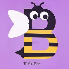 Alphabet Art Template - Upper B (Bee)