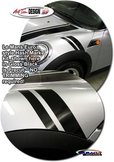 Vehicle Specific Graphic kits for Mini Cooper that are Precut and ready to install.
